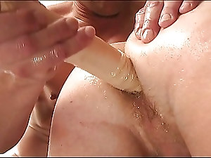 Horny blonde gay fucked by a older guy