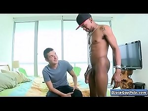 Its Gonna Hurt - Interracial Bareback Big Cock Gay Fucking - BlackGayPain.com 11