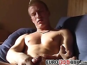 Solo interview and masturbation with a big cocked homo