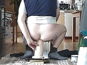 i fuck my very huge dildo with popper