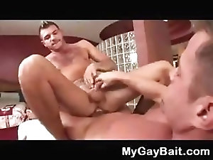 Dude gets gay deflowering massage